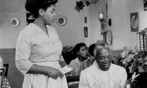 Two of my favorites: Oprah Winfrey and Beah Richards, filming Women of Brewster Place