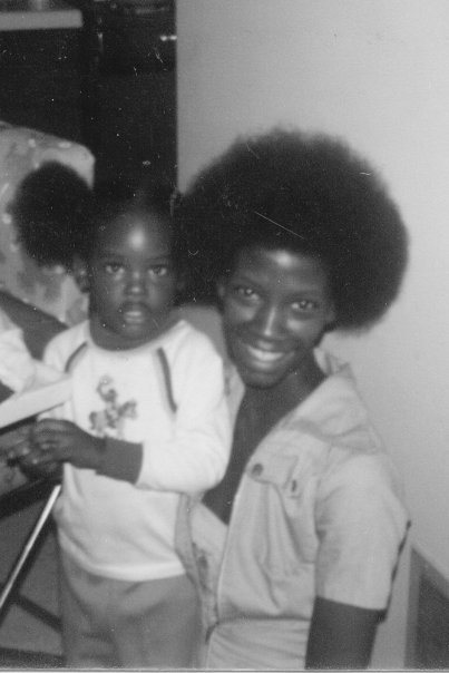 Kalisha and mother, 1980, Kankakee, Illinois