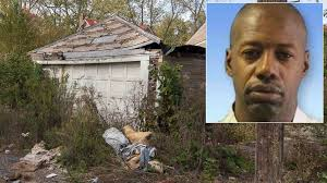 Serial killing suspect Darren Deon Vann, and just one of the grim locations he led police to a victim within/photo courtesy of ABC News