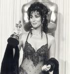Cher Winning Best Actress for Moonstruck in 1988