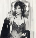 Cher Winning Best Actress for Moonstruck in 1988