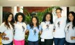 Keisha Knight Pulliam with Kamp Kizzy's girls
