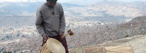 In traditional Saya music, the Drum Man operates like an orchestra conductor.
