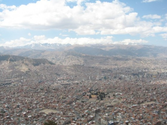 View of La Paz in Bolivia