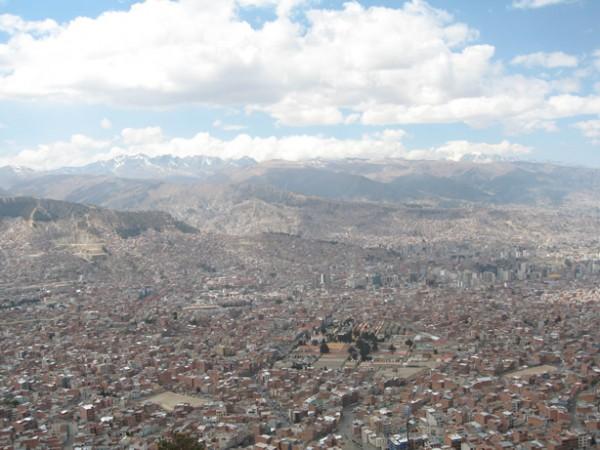 View of La Paz in Bolivia
