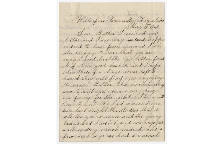 Wilberforce letter