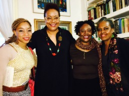 Nemiss, Harriette Cole, Kalisha Buckhanon and Malaika Adero at Harlem Arts Salon