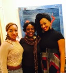 Nemiss, Kalisha Buckhanon and Rachel Eliza Griffiths at Harlem Arts Salon
