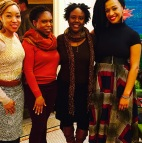 Nemiss, Marsha Desormeaux, Kalisha Buckhanon and Rachel Eliza Griffiths at Harlem Arts Salon