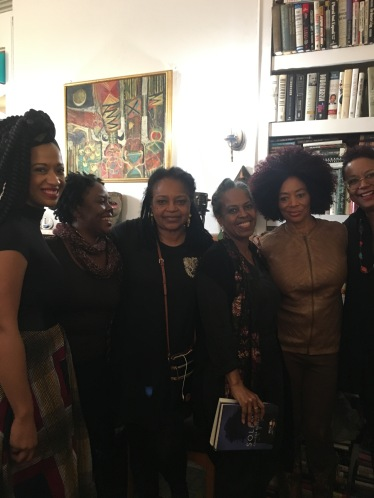 Rachel Eliza Griffiths, Kalisha Buckhanon, Margaret Porter-Troupe, Malaika Adero, Terry McMillan and Harriette Cole at Harlem Arts Salon