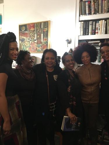 Rachel Eliza Griffiths, Kalisha Buckhanon, Margaret Porter-Troupe, Malaika Adero, Terry McMillan and Harriette Cole at Harlem Arts Salon