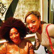 Terry McMillan and Nemiss at Harlem Arts Salon