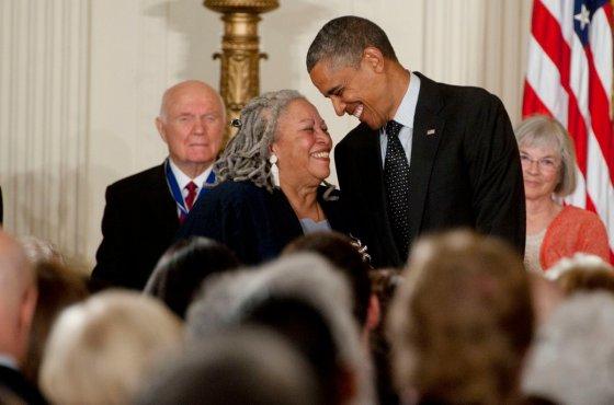 Morrison and Obama