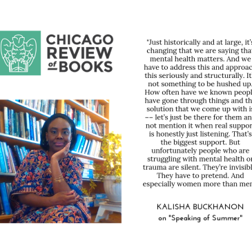 Interview with Kalisha Buckhanon in Chicago Review of Books | negression .com