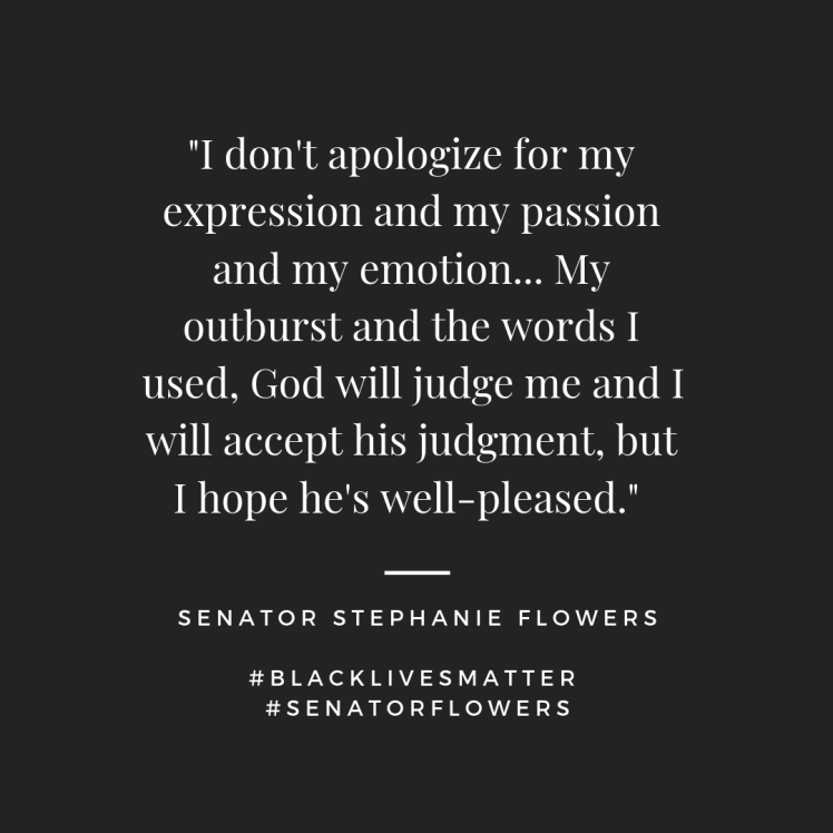 Senator Flowers Speaks | negression.com